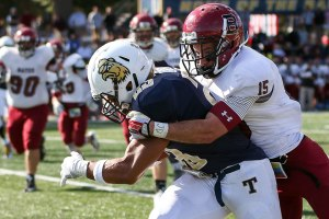 The Bobcats' defense held the Polar Bears to just one score last weekend, so expect the unit to have another big day against Hamilton. (Photo Credit: Bates College Athletics/Brian Foley)