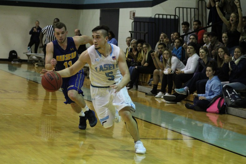 Armin Omanovic has the Lasell men's basketball team headed in the right direction. (PHOTO CREDIT: Lasell College Athletics)