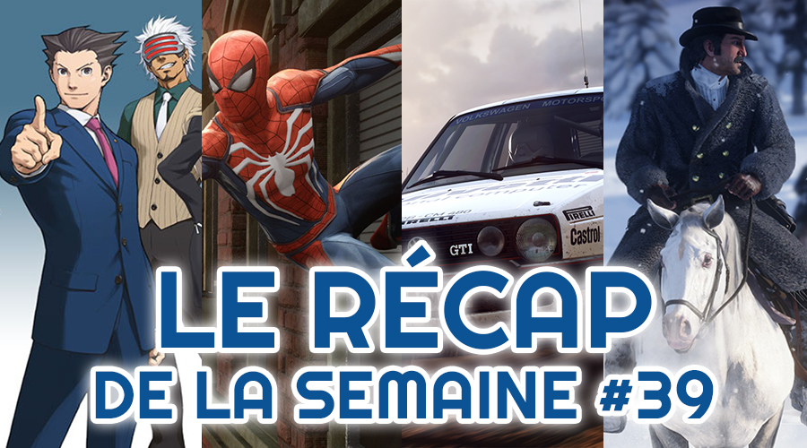 Le récap de la semaine #39 : Ace Attorney, Spider-Man, Dirt Rally 2.0, Red Dead Redemption II