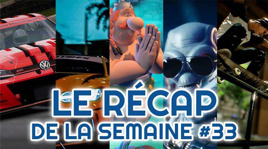 Le récap de la semaine #33 : Grid, Need For Speed Heat, Astérix & Obélix XXL 3, Destroy All Human, Session