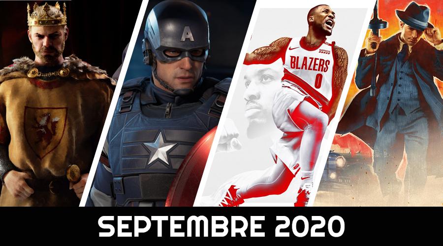 Le calendrier des sorties : Septembre 2020