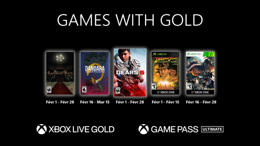 Xbox Games With Gold février 2021