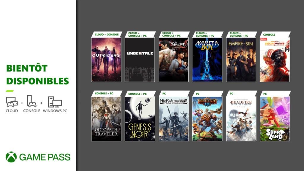Xbox Game Pass mars