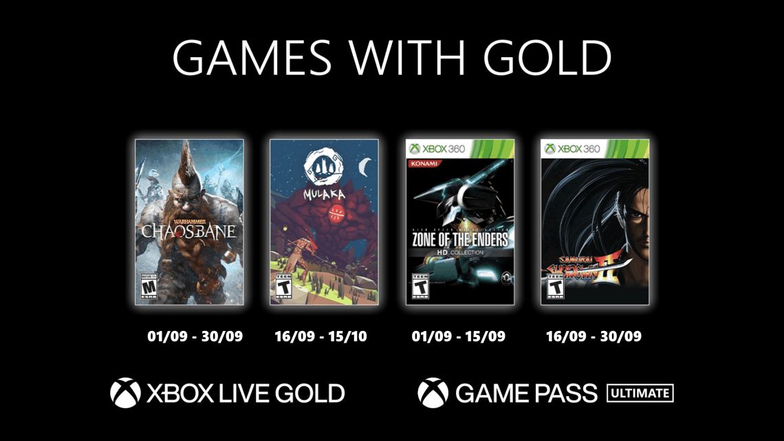 Xbox Games With Gold septembre 2021