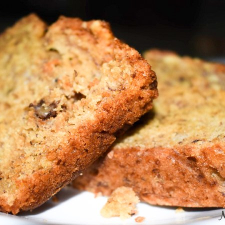 banana bread eggless whole wheat