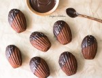 chocolate madeleines dipped in chocolate