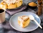 eggless cinnamon rolls cream cheese glaze