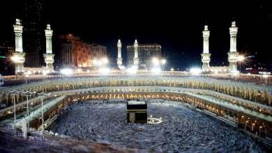 أول صلاة في المسجد الحرام بمكة المكرمة بدون تباعد اجتماعي