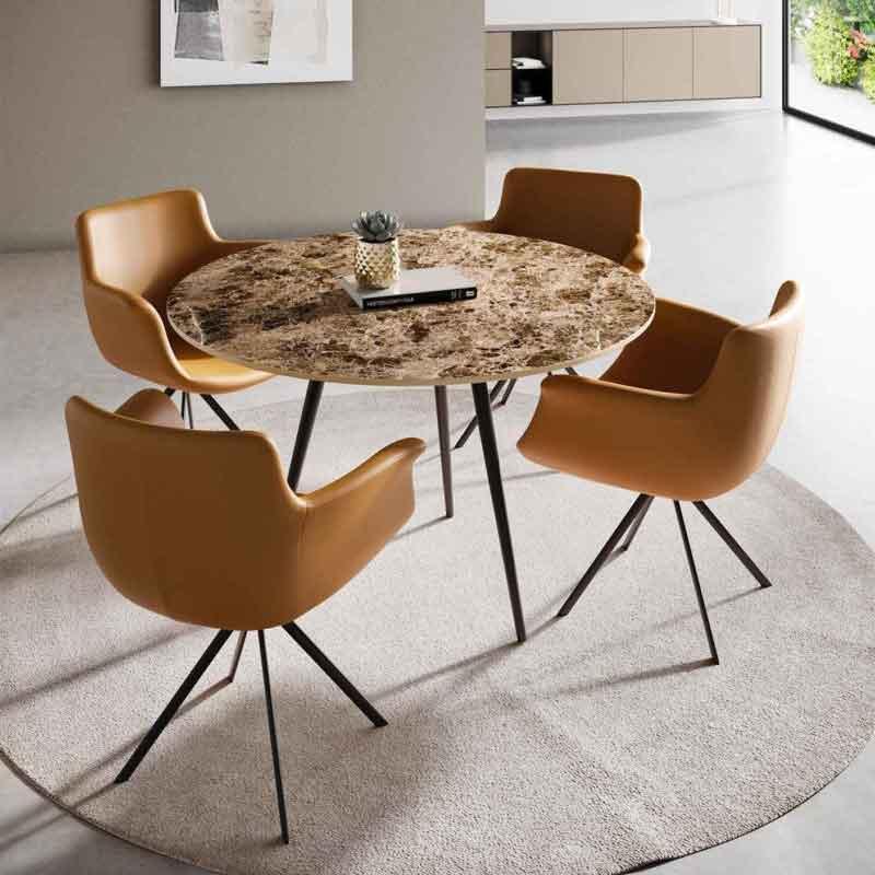 table ronde marguerite xeramica joli