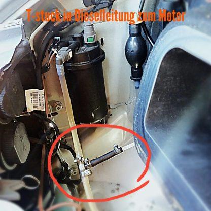 Standkachel Brandstof Aansluiting T-Stuk 5,3mm x 8mm x 8mm