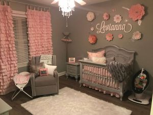 Baby Girl Bedroom Ideas Fresh Baby Girl Grey and Pink Bedroom Handmade Drapes and Flowers