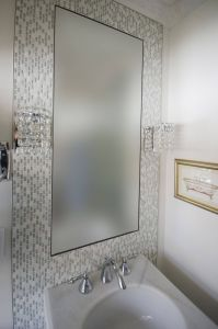 Bathroom Mirrors Lovely Vanity Wall Sconces Installed On the Mosaic Mirror Frame