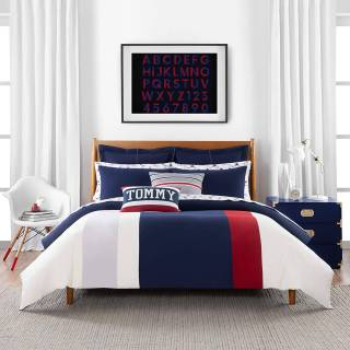 Beddings Inspirational tommy Hilfiger Clash Of 85 Stripe Duvet Cover Set Full Queen Multi