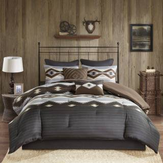 Brown Comforter Set New Woolrich Bitter Creek Grey Brown Oversized forter Set