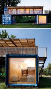 Container Homes Unique Stylish Shipping Container Home with Living Wall Decor 7