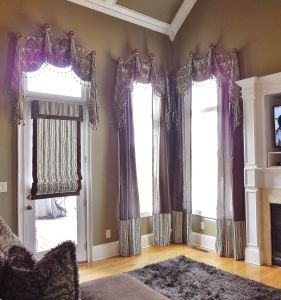 Corner Windows Lovely Our Granada Valance Over Panels and Romanshades