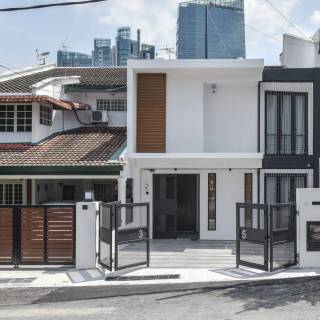 Exterior Design Luxury Modern Malaysian Terrace House Exterior Design