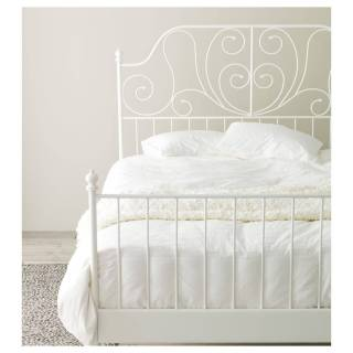 Full Size Metal Bed Frame Awesome Ikea Leirvik White Luröy Bed Frame