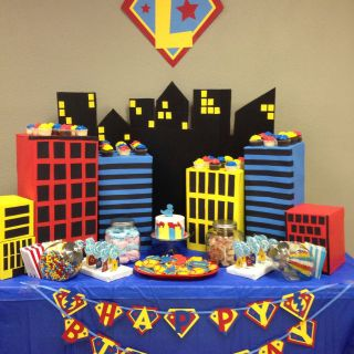 Superhero Table Decorations Fresh Superhero 1st Birthday T Boxes From Work for Buildings