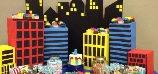 Superhero Table Decorations New Superhero 1st Birthday T Boxes From Work for Buildings