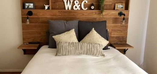 Wall Headboard Ideas Elegant Love This Wooden Headboard with Shelves My Husband Made for
