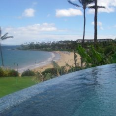 From Serenity Pool looking out to Wailea Beach