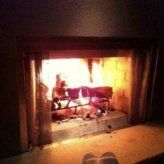 Enjoying the Outdoor Fireplace