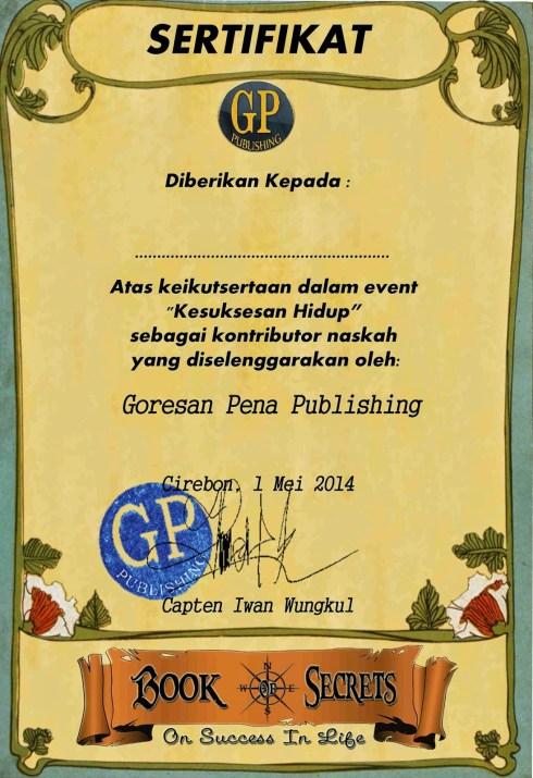 sertifikat kesuksesan hidup