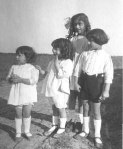 Khairunissa, Hidayat, Noor, and Vilayat. August 1921, Wissous, France
