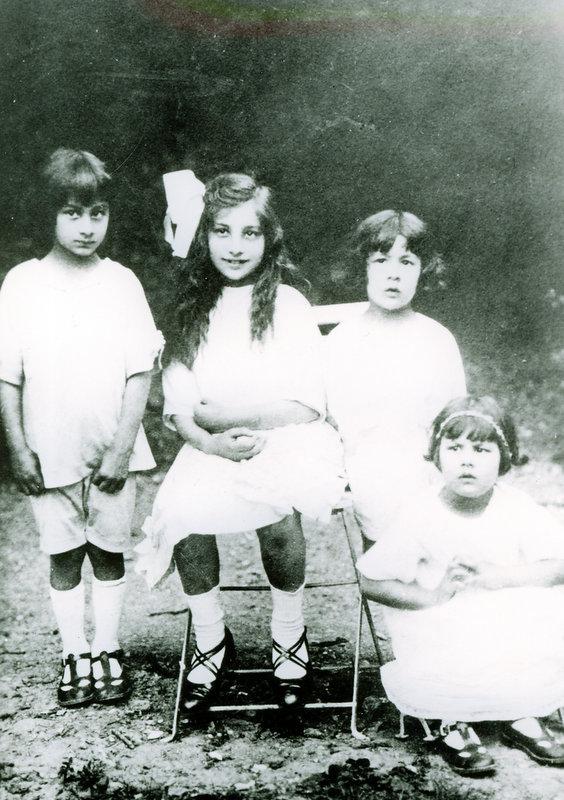 Vilayat, Noor, Hidayat, and Khairunisa. July 5, 1922, Fazal Manzil.