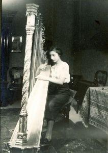 Noor Playing Harp, 1934.