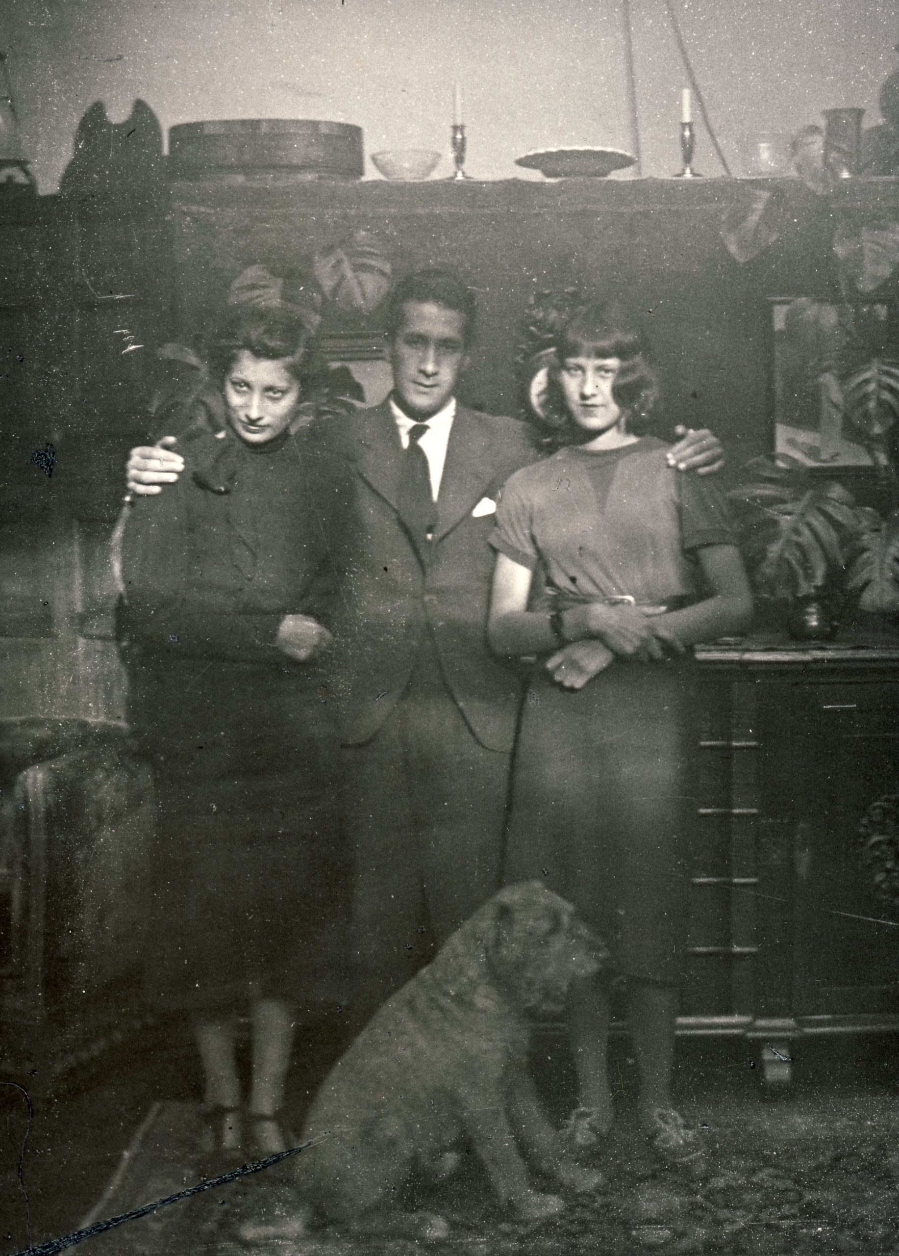 Noor, Vilayat, and Claire. 1937, The Hague, The Netherlands.