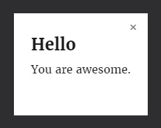 screenshot of inline HTML in lightbox using the WordPress fancyBox plugin