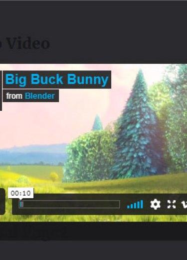 screenshot of vimeo video in lightbox using the WordPress fancyBox plugin