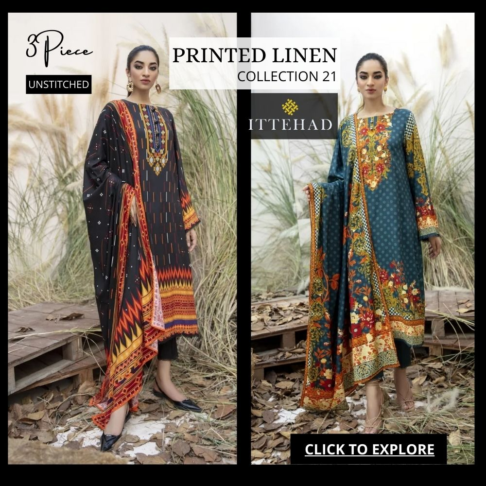 Ittehad Printed Linen Collection 2021