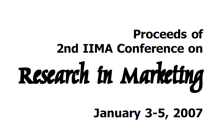My marketing research paper published in the IIM