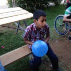 Mohamed and his balloon