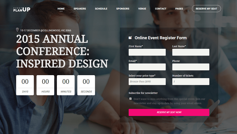 Event Booking WordPress Themes