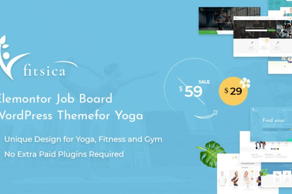 [New Release] Fitsica – Yoga Job Board WordPress Theme