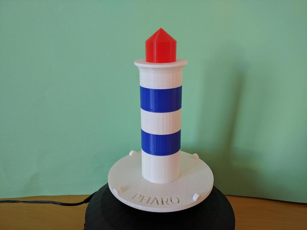 Large 3D printed pharo lighthouse