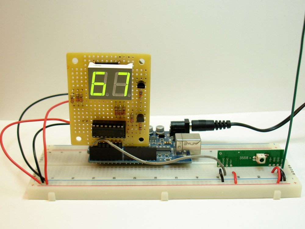 medium resolution of rf receiver with temperature display