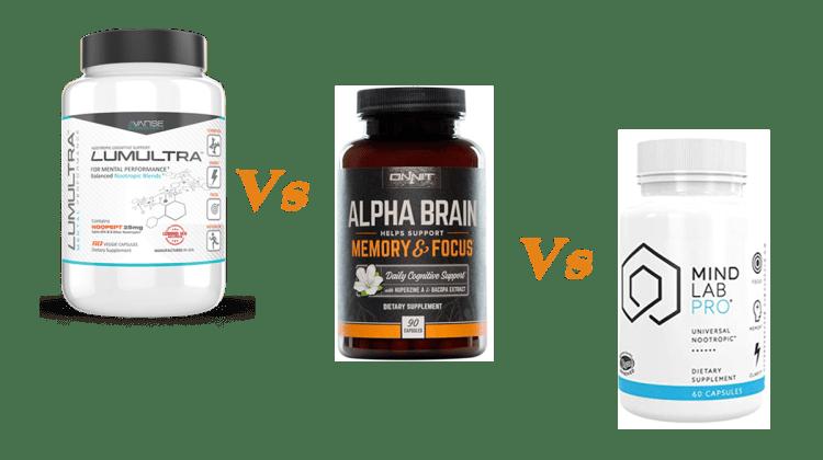 Lumultra vs Alpha Brain vs Mind Lab Pro Review by Nootropics Official