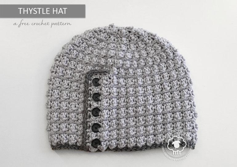 Thystle Hat A Free Crochet Pattern Noowul Designs