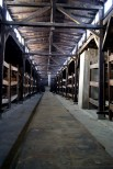 Living conditions in the wood buildings in Birkenau