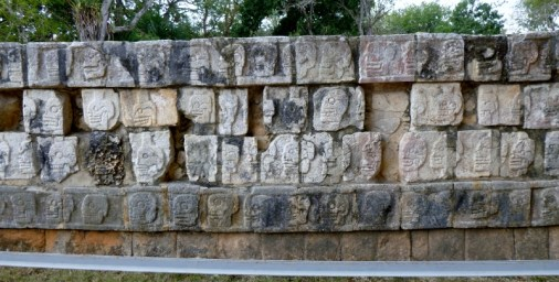 exhibit of skulls - Chichen Itza