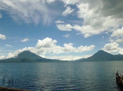 Lago Atitlan with Vocans Toliman and San Pedro