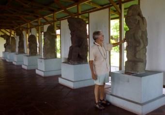 Pre-Columbia statuary from Ometepe Island inthe San Francisco Convent Museum - Granada