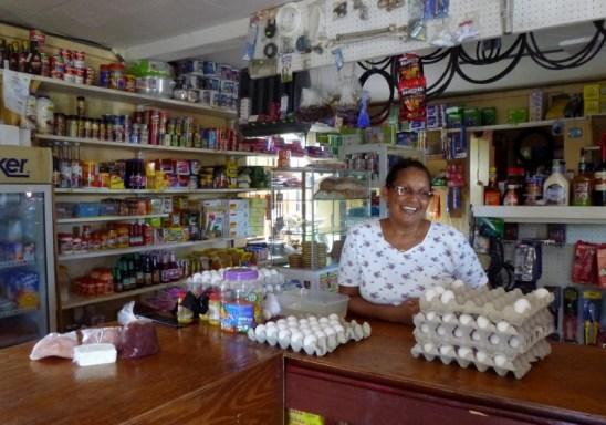 At Melody's store - Big Corn Island,Nicaragua