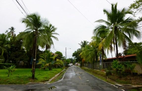 a street scene after a rain Bocas Town