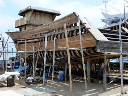 a labor intensive creation on Murcialago Beach, Manta